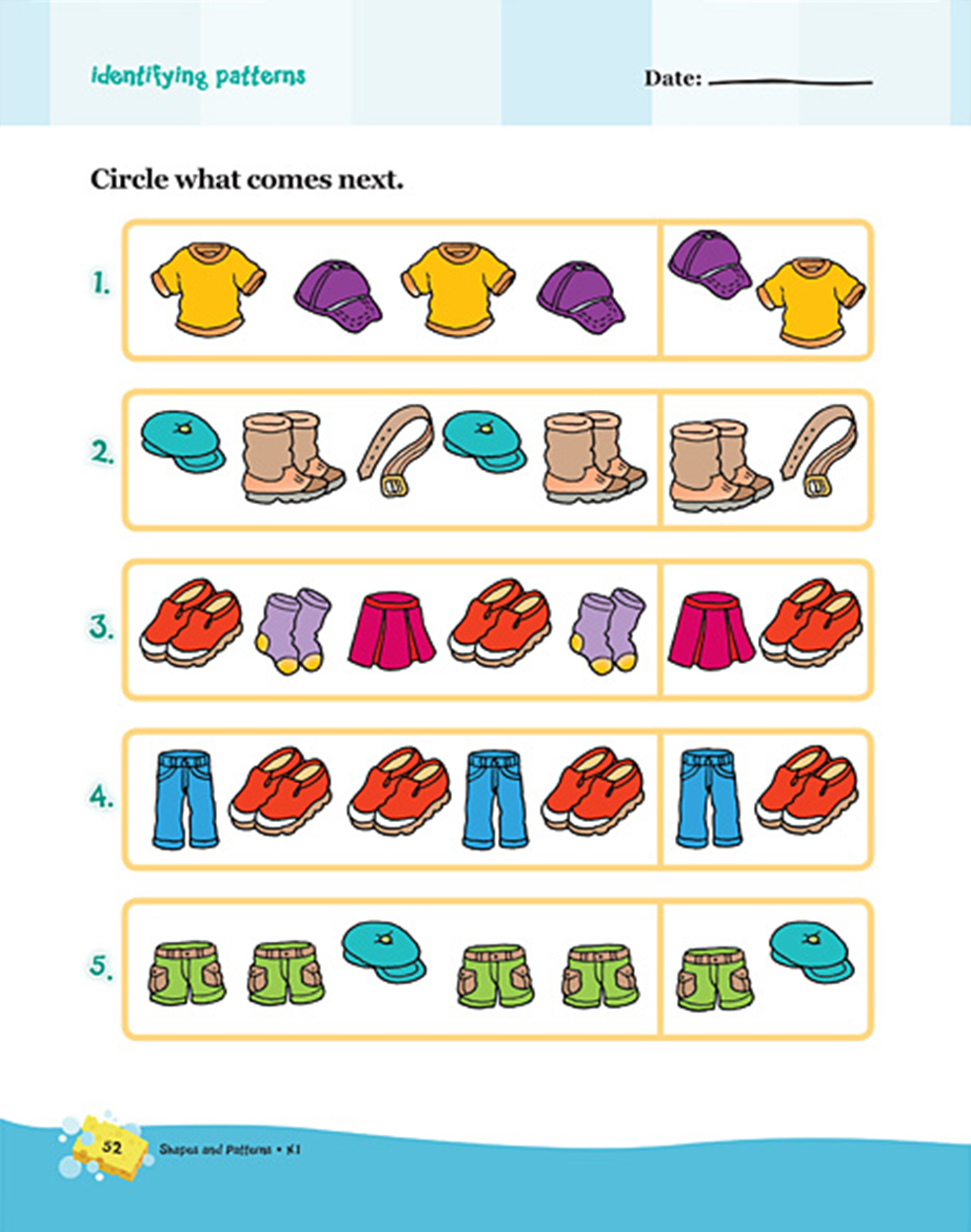 Scholastic Learning Express Shapes and Patterns K1