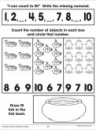 Counting One to Ten: Math Practice Page