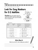 Teaching your child to look for easy numbers will help make math easy.