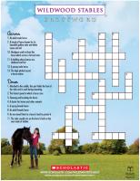 Wildwood Stables Crossword