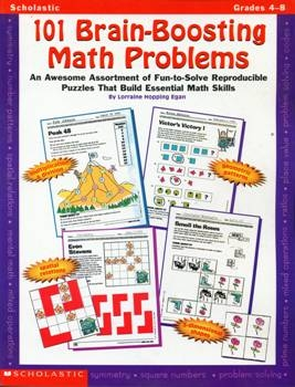 101 Brain Boosting Math Problems (Grades 4-8)